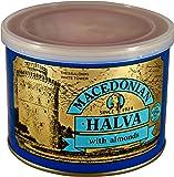Greek Macedonian Halva with Almonds Net Weight 500gr Tin can.
