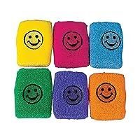 Smile face Wrist Bands (1 Dozen) - Bulk