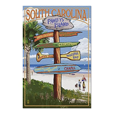 Pawleys Island, South Carolina - Destinations Sign (Premium 1000 Piece Jigsaw Puzzle for Adults, 20x30, Made in USA!): Toys & Games