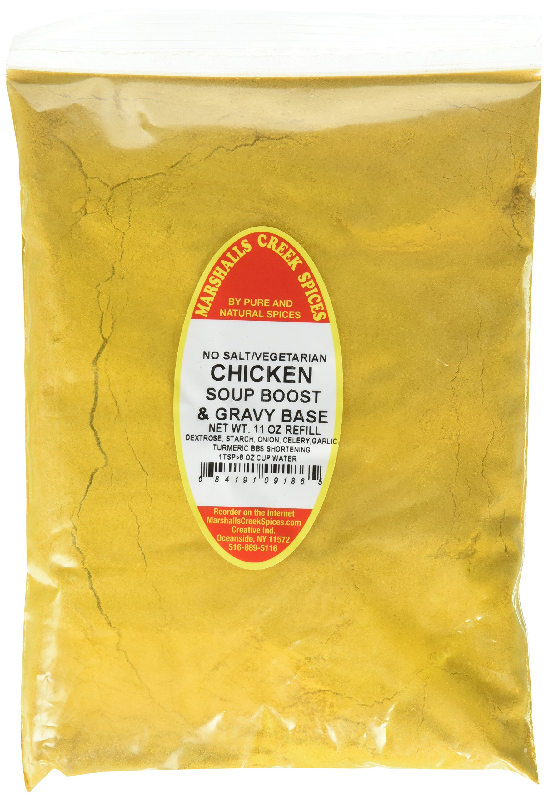 Marshalls Creek Spices Refill Pouch Soup Gravy Base and Chicken with No Salt Vegetarian Seasoning, 11 Ounce