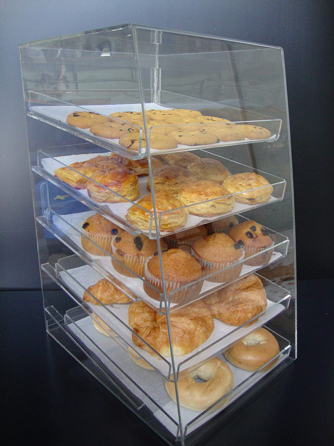 display top pastry adc countertops clear winco counter case x countertop w trays