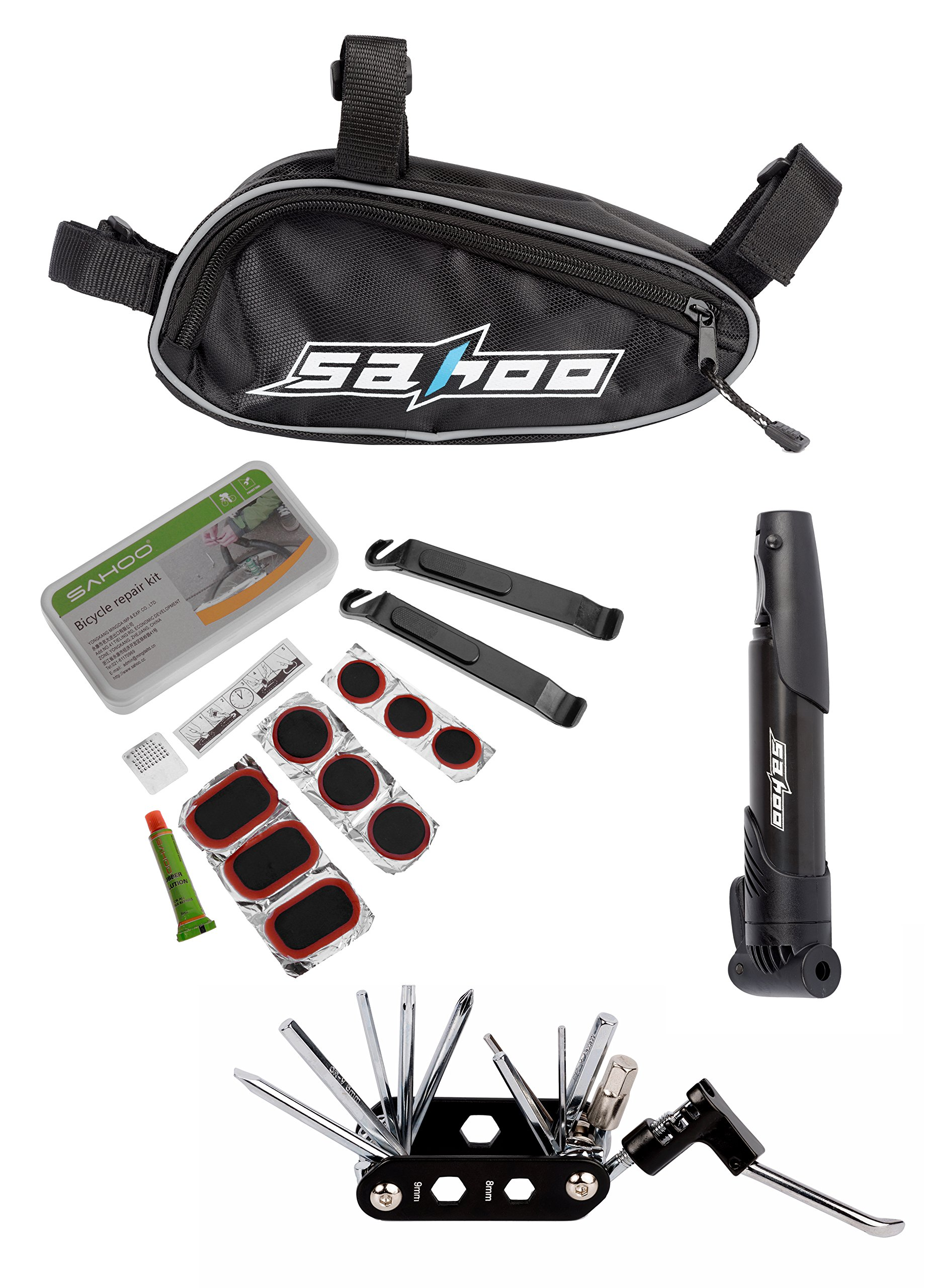Sahoo 14-in-1 Multifunction Bicycle Repair Tools Kit, Black