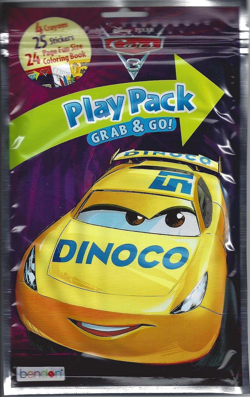 Amazon.com: Cars 3 Disney Grab n Go Play Packs Bundle (12 Pack ...