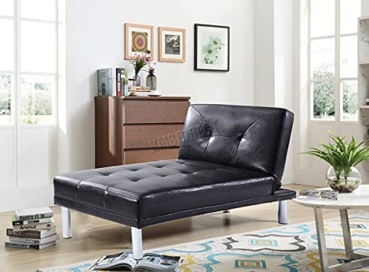 WestWood Modern Luxury Chaise Longue Single Sofa Bed 1 Seater