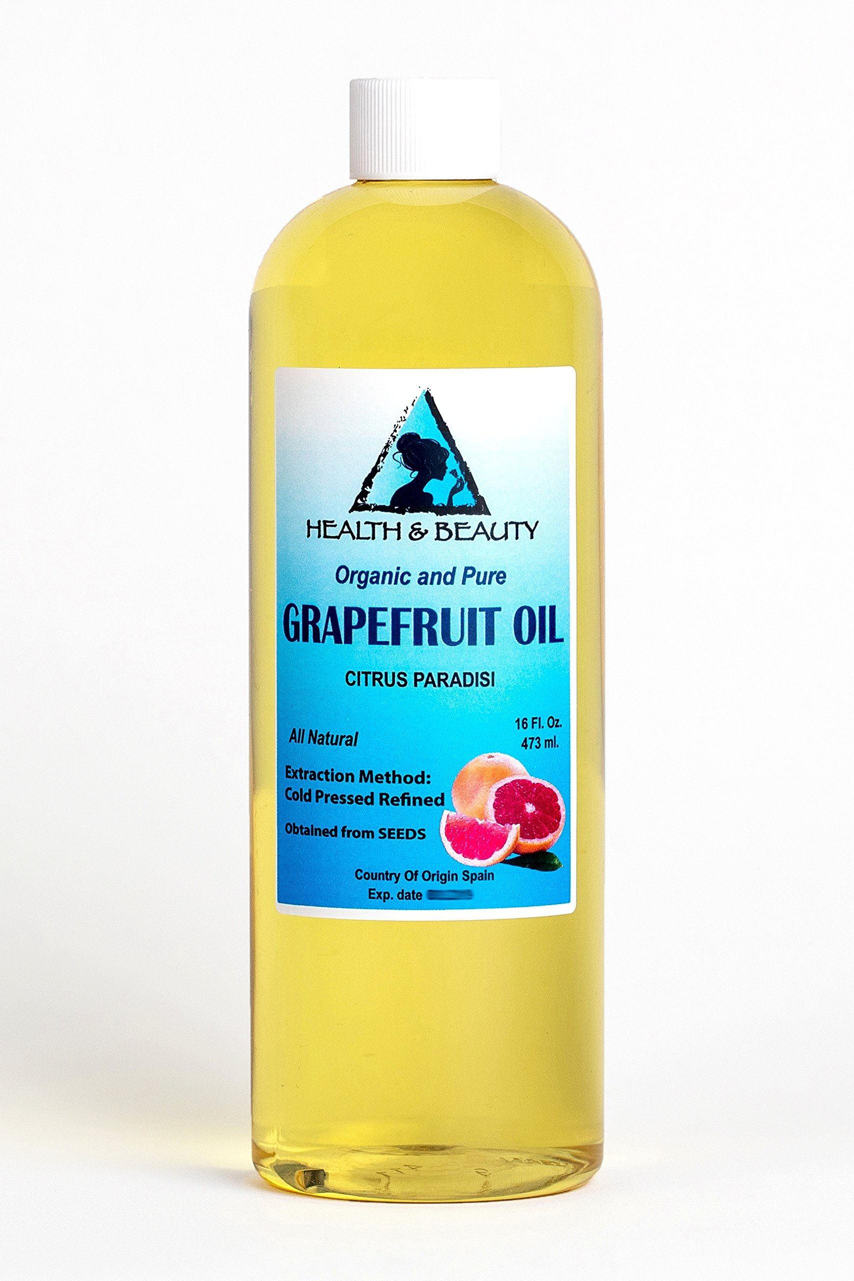 Grapefruit Seed Oil Refined Organic Carrier Cold Pressed Natural Fresh 100% Pure 64 oz by H&B Oils Center Co.