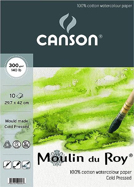 Canson - Moulin du Roy - 20606 - Papel de acuarela - A3 - 10 hojas ...