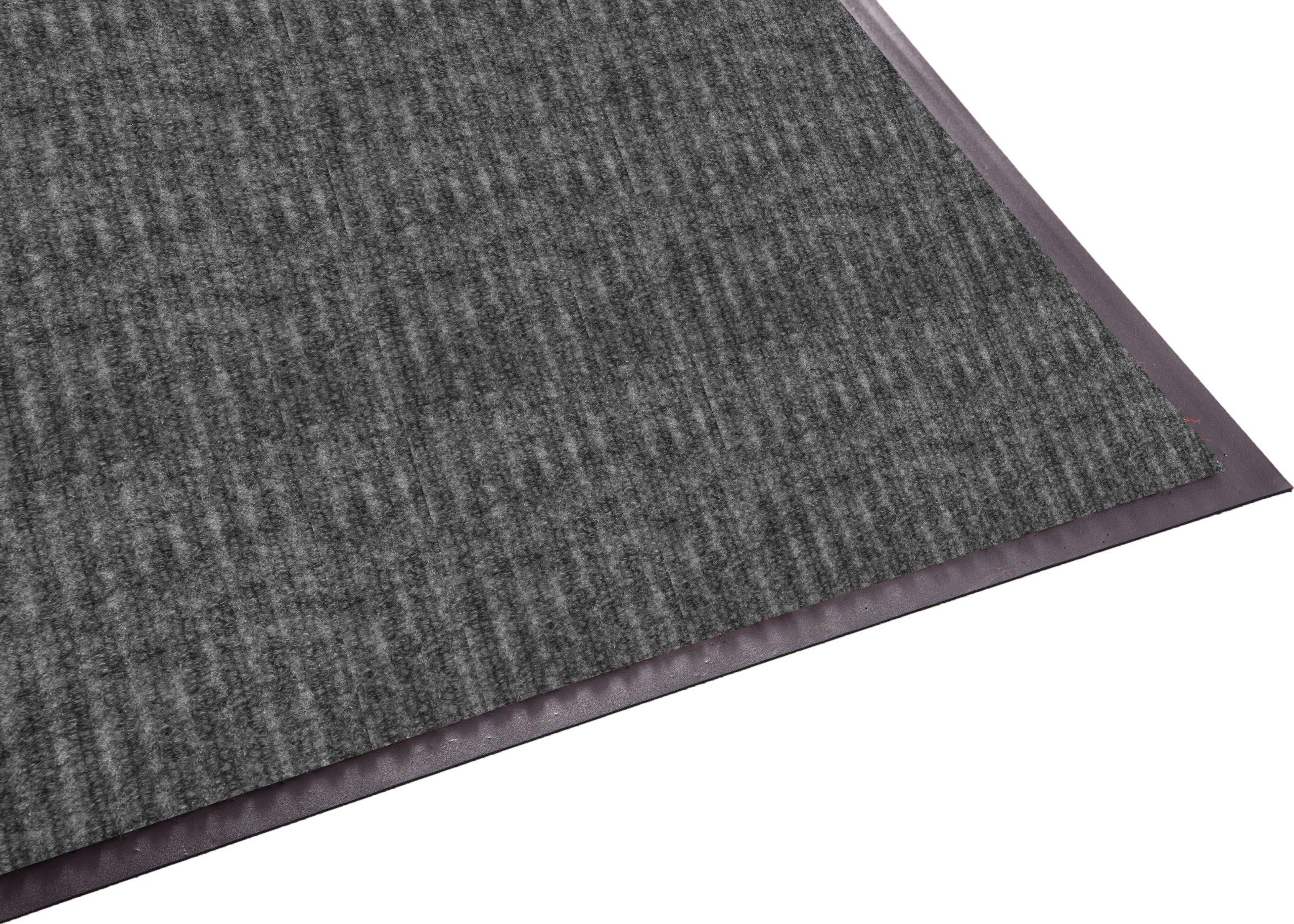 Guardian Golden Series Dual-Rib Indoor Wiper Floor Mat, Vinyl/Polypropylene, 3'x10', Grey by Guardian