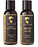 Beard Shampoo and Beard Conditioner Wash & Growth kit for Men Care - Softener & Moisturizer for Grooming Hydrating, Strengthening, Cleansing and Refreshing Beard and Mustache Facial Hair Gift Set