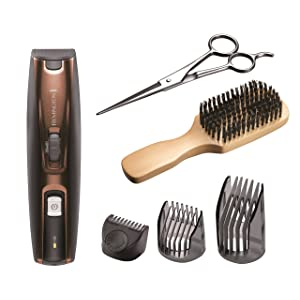 Remington MB4045 Beard Kit (Beard Trimmer, Mixed Boar Bristle Beard Comb and Stainless Steel Scissors)