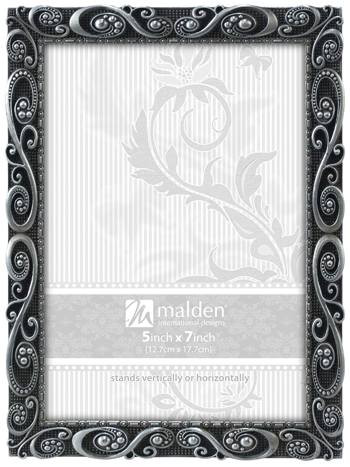 Amazon.com: Malden International Designs Morgan Pewter Metal Picture ...