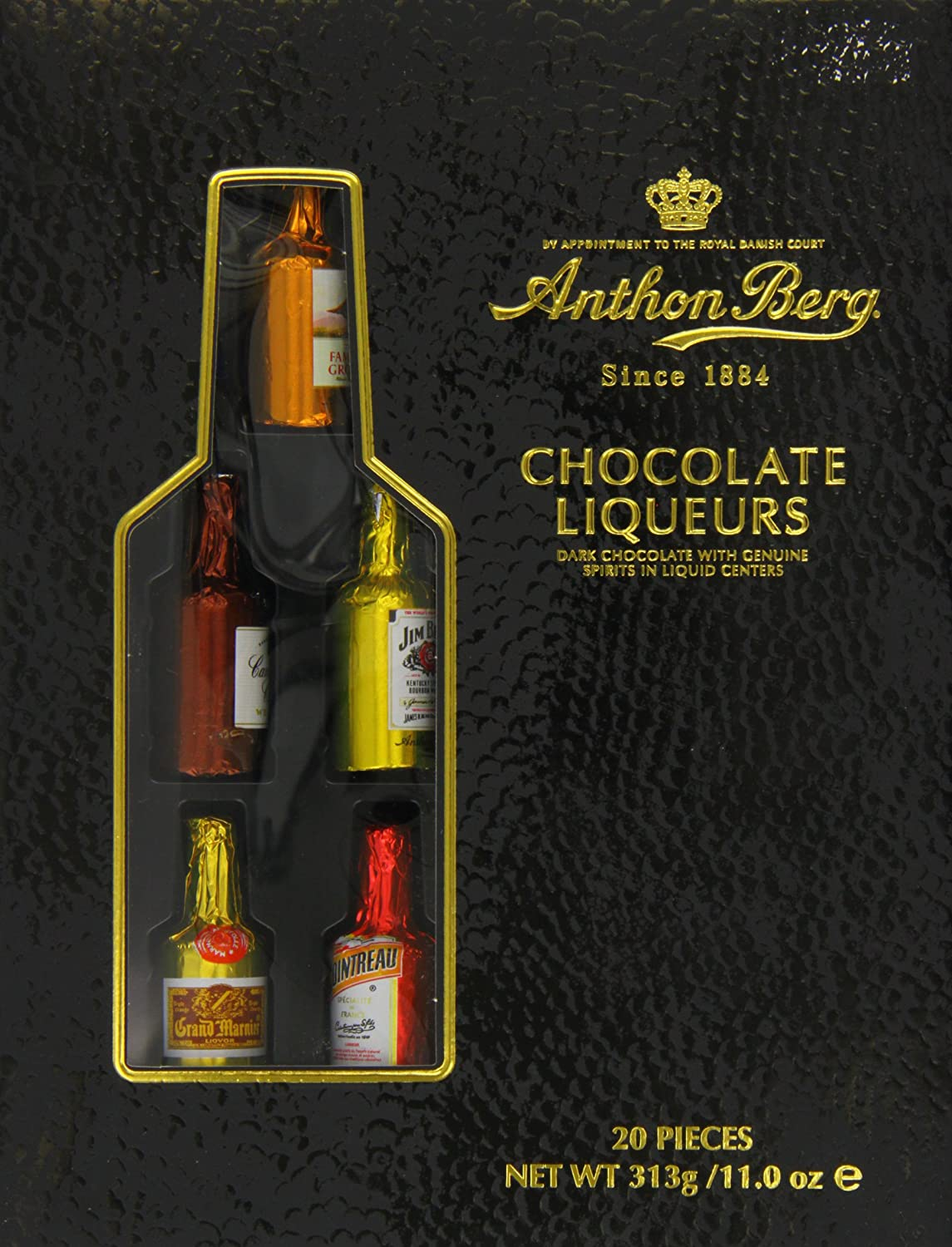 Anthon Berg Luxury Chocolate Liqueurs 20 Piece (Pack of 1): Amazon ...