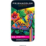 Prismacolor 3597T Premier Colored Pencils, Soft Core, 24-Count