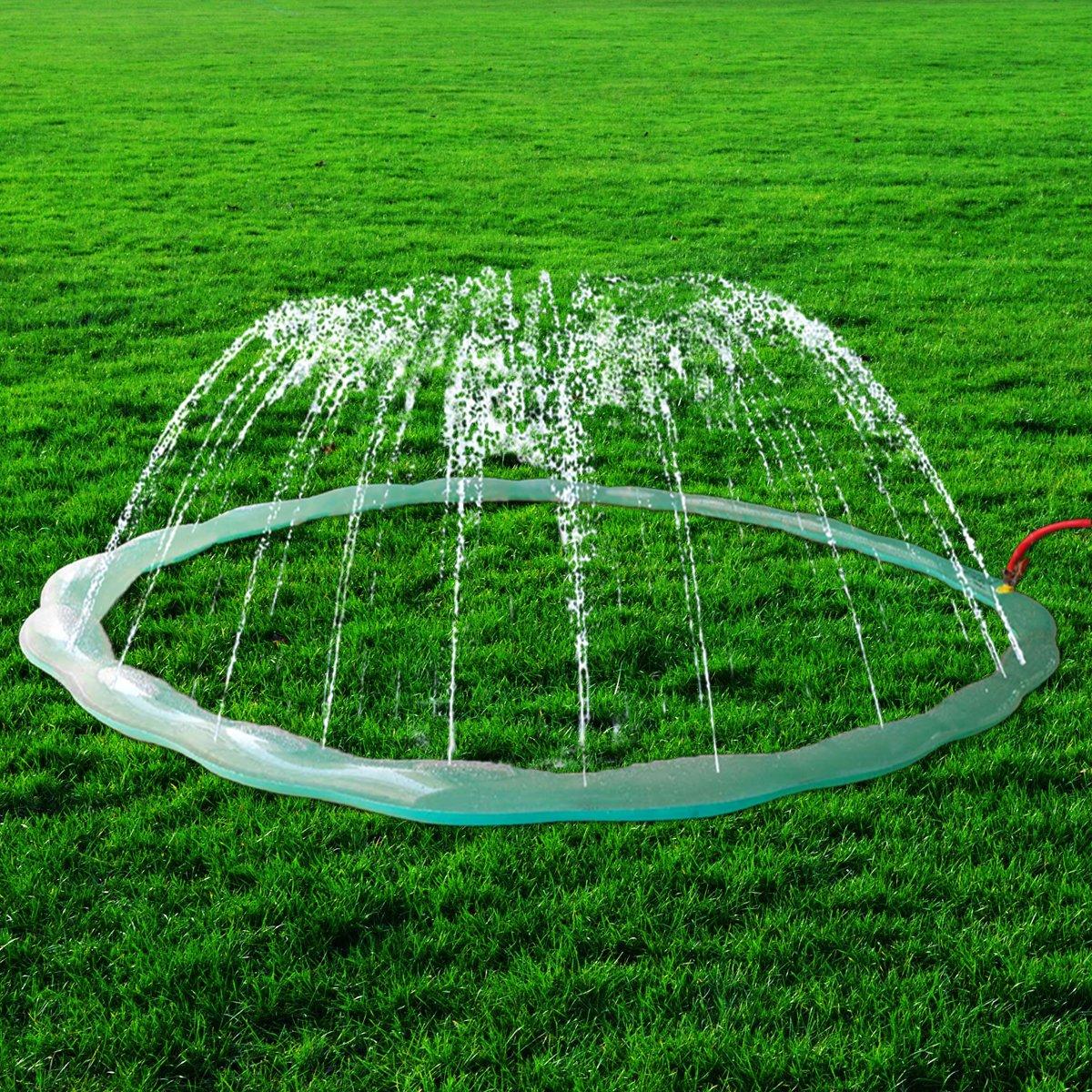 Redstore Sprinkle & Spray Play Ring Toy Splash Sprinkler Summer Inflatable Outdoor Water Sprinkler Lawn Party Beach Pool for Infants Toddlers & Kids