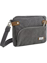 Travelon Anti-Theft Heritage Cross Body Travel Totes, Pewter