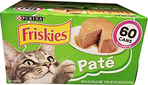 Purina Friskies Cat Food Poultry Seafood 60 Cans 5.5 Oz Net Wt 330 Oz, 330 oz