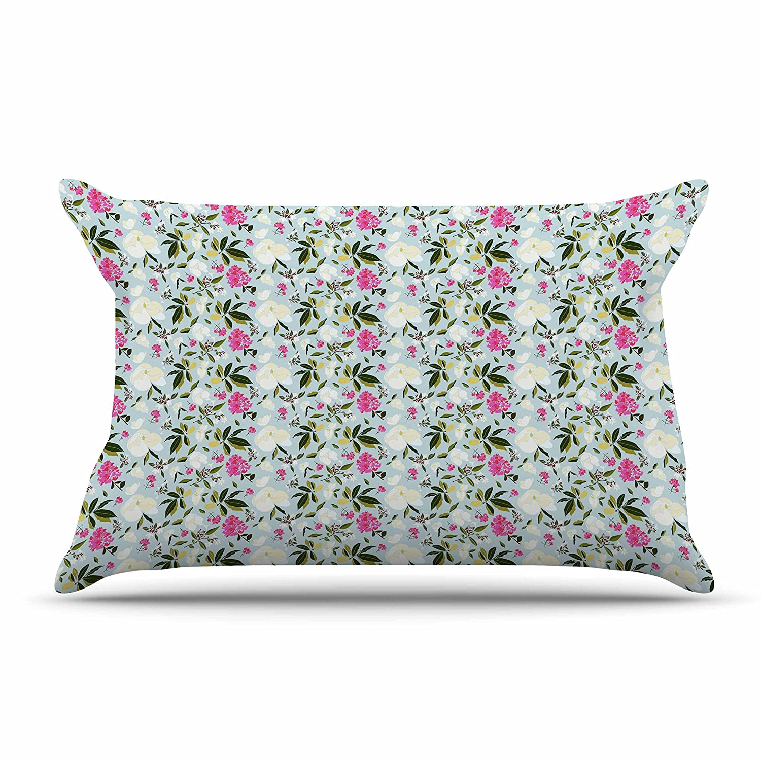 30 by 20-Inch 30 X 20 Kess InHouse Mayacoa Studio Romantic French Park Blue Pink Standard Pillow Case