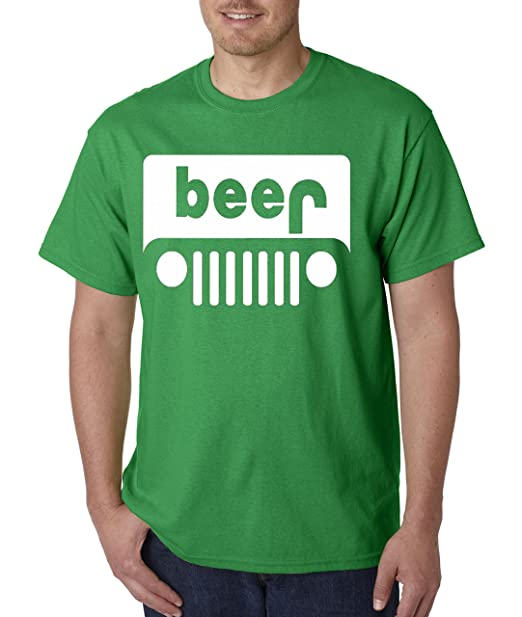 b101cd1b Amazon.com: New Way 139 - Unisex T-Shirt Beer Jeep Funny Drinking: Clothing
