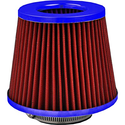 Simply AFU10 Red Mesh with Blue Universal Air Filter: Automotive