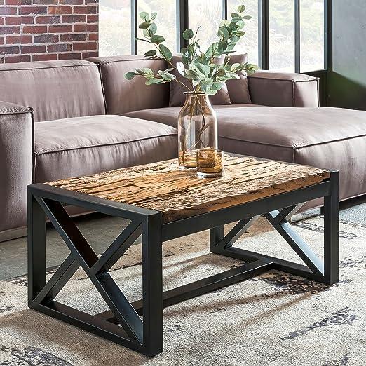 Wohnling Diseño – Mesa Bellary 102 x 46 x 61 cm Madera Maciza sofá ...
