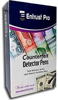 entrust pro counterfeit pens marker detects fake counterfeit money with round tips
