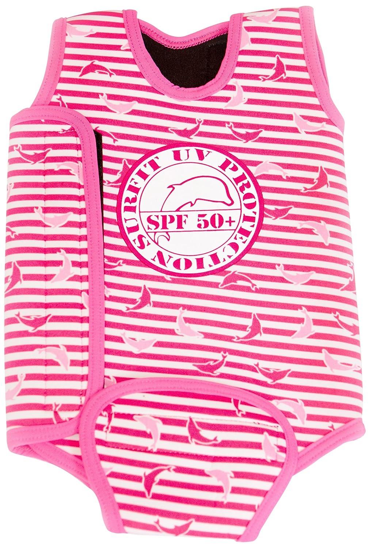 Surfit - Muta a fascia, motivo a righe con logo delfino, gamba corta, bambina