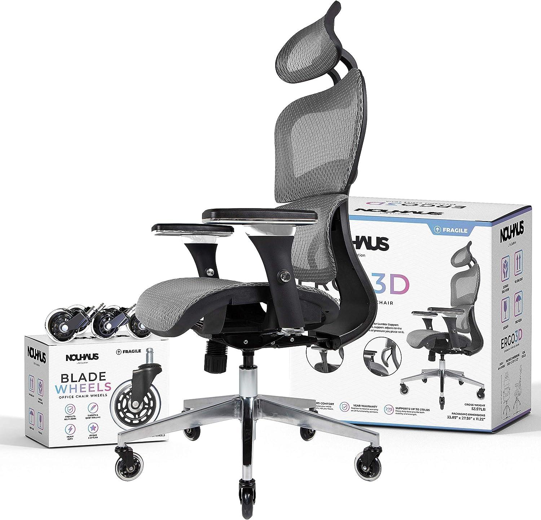 5. NOUHAUS Ergo3D Long hour Chair – Most Reviewed