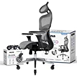 NOUHAUS Ergo3D Ergonomic Office Chair - Rolling Desk Chair with 4D Adjustable Armrest, 3D Lumbar Support and Extra Blade…