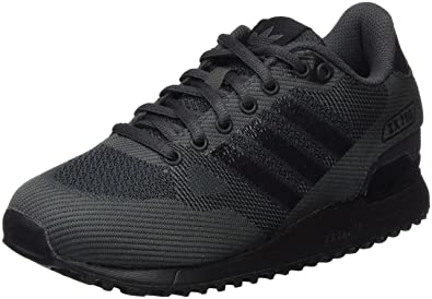 Adidas ZX 750 WV, Baskets Basses Mixte Adulte, Noir Core Black/Dark Grey