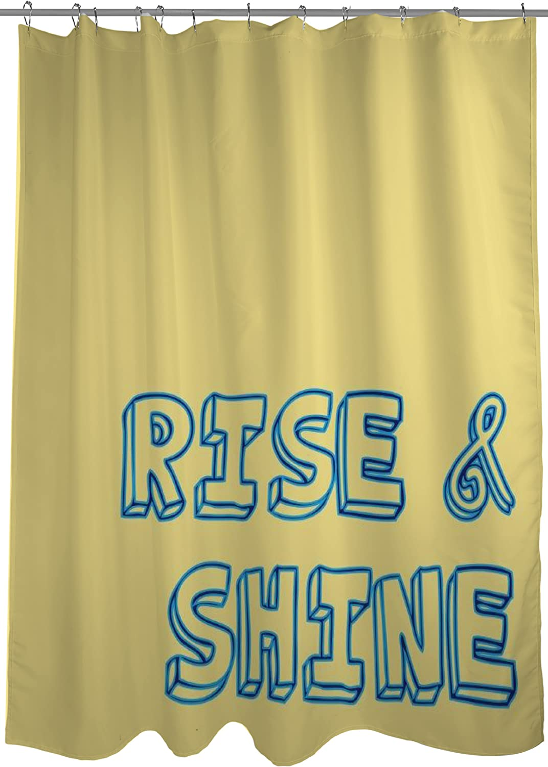 One Bella Casa Rise Shine Shower Curtain By Obc Standard 71 X 77 Yellow Blue Home Kitchen