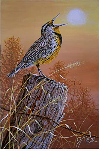 Meadowlark Painting by Jeff Tift, 30×47-Inch