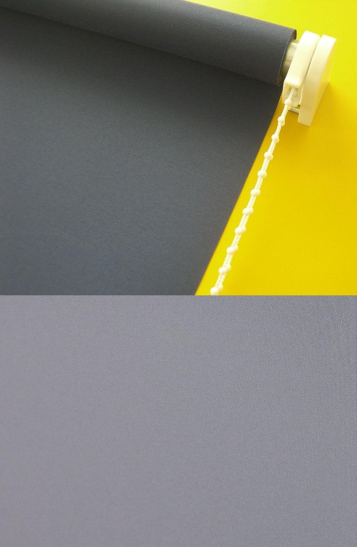Verdunkelungsrollo Kettenzugrollo Seitenzugrollo Rollo Dunkelgrau Grau Breite 60-200 cm Länge 180 cm Sonnenschutz Sichtschutz verdunkelnd (200 x 180 cm)