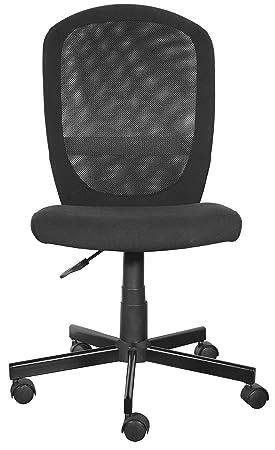 Furniture 247 - Silla de oficina, negro: Amazon.es: Hogar
