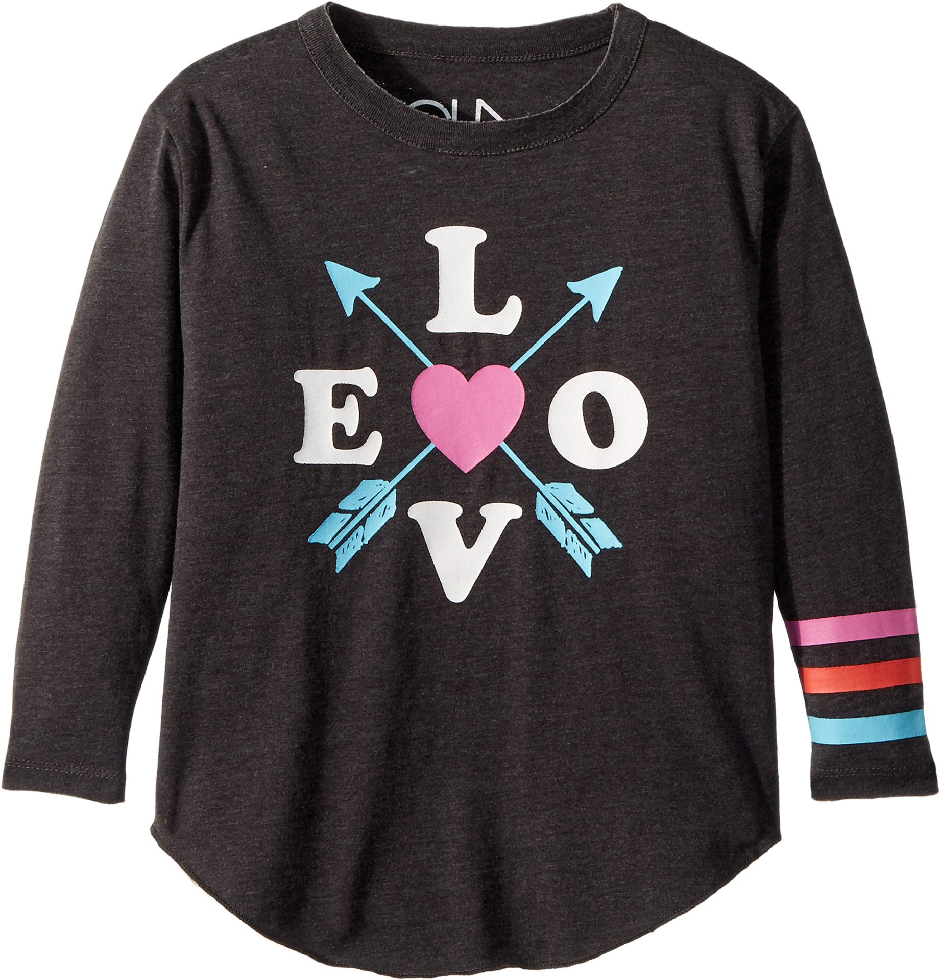 Chaser Kids Baby Girl's Vintage Jersey Love Arrows Tee (Toddler/Little Kids) Vintage Black 4 Tall