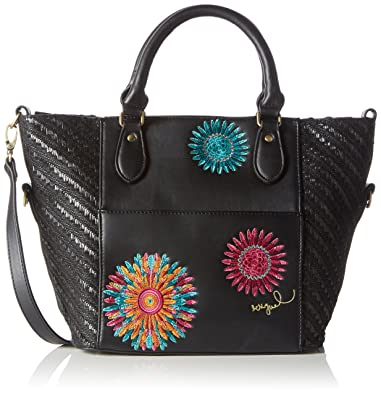 a08a0513b7 Desigual Women's FLORIDA FAR WEST Shoulder Bag Black Schwarz (NEGRO ...