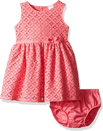 Carters Baby Girl Embroidered Swing Dress