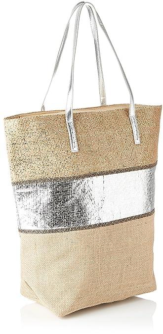 Cabas Et Argent, Womens Top-Handle Bag, Silver, 15.5x43x45.5 cm (W x H L) Molly Bracken