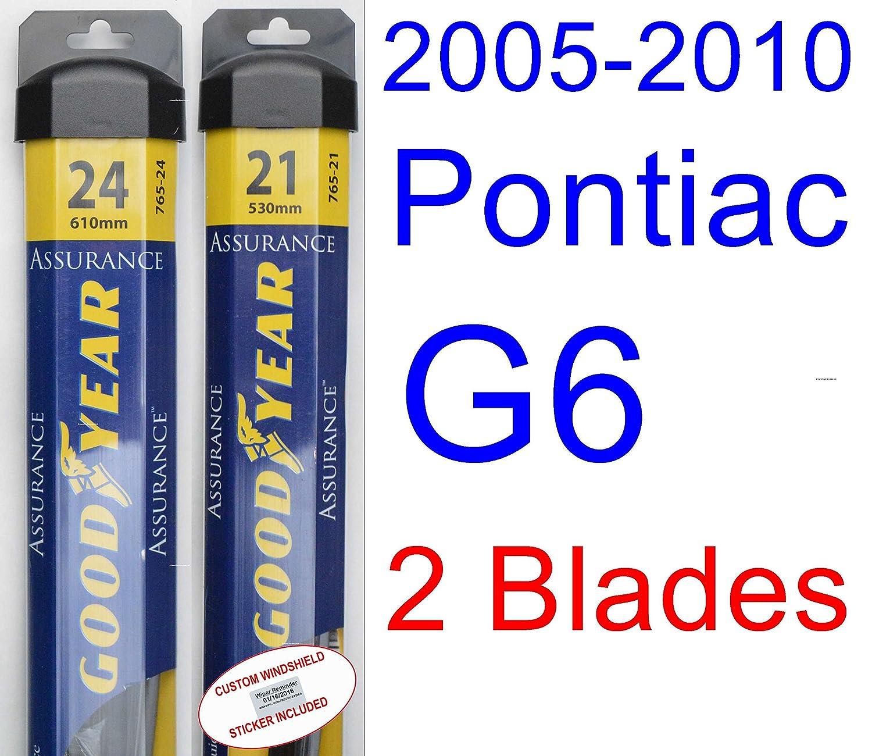 2005 2010 Pontiac G6 Replacement Wiper Blade Set Kit Wiring Schematic Of 2 Blades Goodyear Assurance 2006200720082009 Automotive