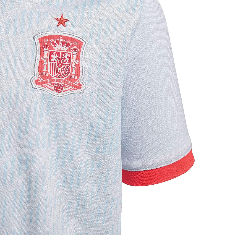 adidas Spain Away Replica Jersey Camiseta Cuello de Pico Manga ...