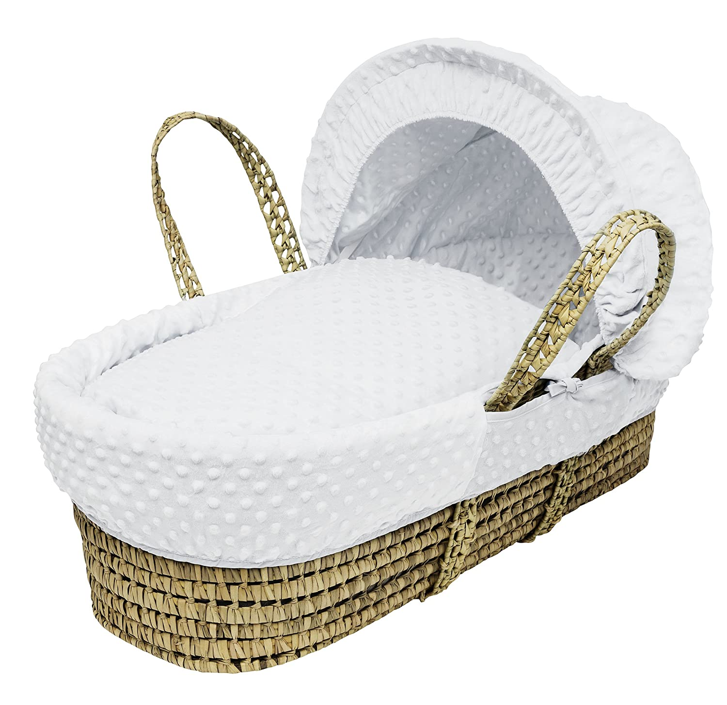 Kinder Valley Palm Moses Basket, White Dimple 10044