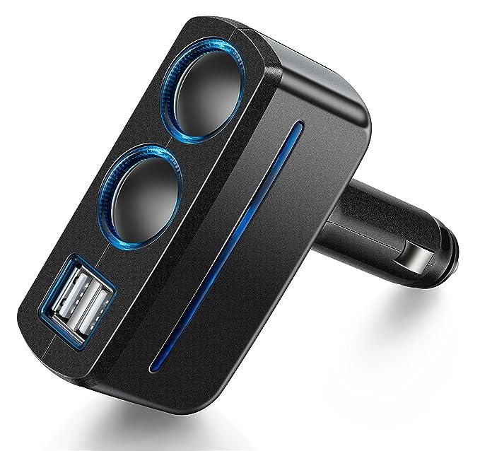 14 opinioni per BlueBeach® Auto Socket adapter Splitter con doppia presa accendisigari e porta