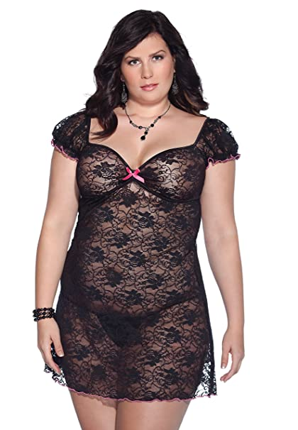 e709ccd791703 Coquette Women s Plus-Size Kissable Queen Sized Stretch Floral Lace Dress