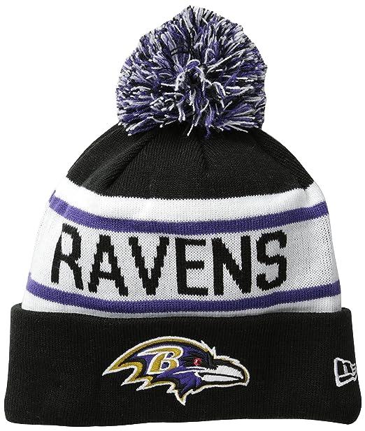 5d1107b9 Amazon.com : New Era NFL Baltimore Ravens Biggest Fan Redux Beanie :  Clothing