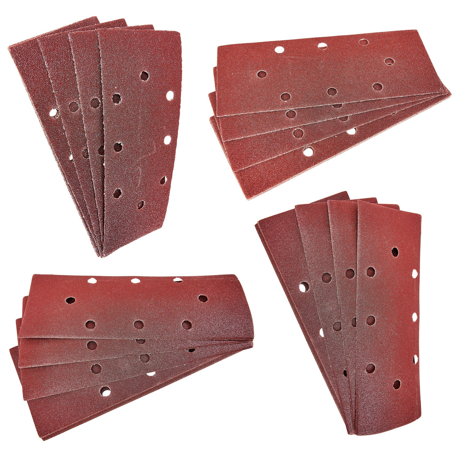 40 Pack Amtech 1/3 93x230mm Sanding Sheets 60g 80g 120g 240g Hook & Loop 3 Year Warranty Tooltime®