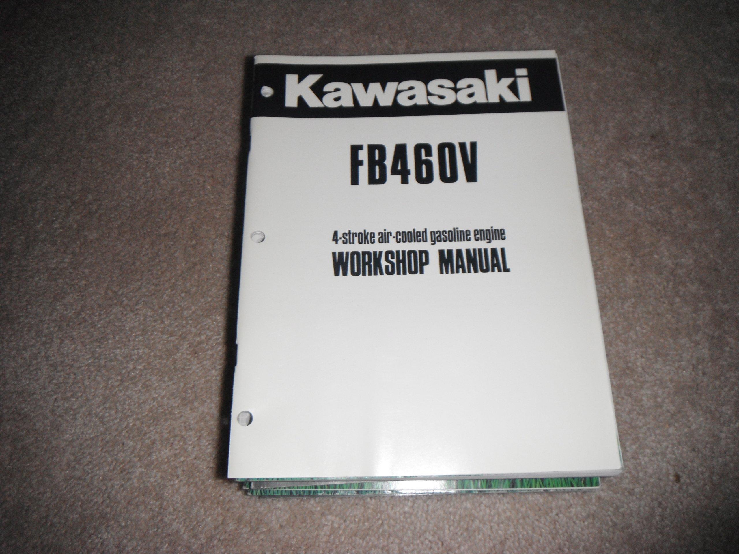 kawasaki fb460v 4 stroke air cooled gasoline engine service manual rh amazon com kawasaki fb460v workshop manual Kawasaki FB460V Parts Manual