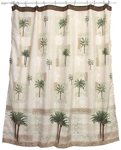 Amazon Bacova Guild Citrus Palm Fabric Shower Curtain Beige