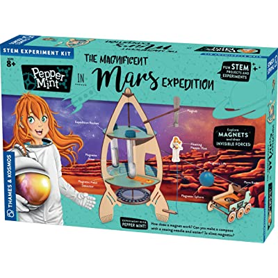 Thames & Kosmos Pepper Mint in The Magnificent Mars Expedition Story-Based Science Experiment & Model Building Kit & Playset, 7 Building Projects & Experiments in Magnetism & Physics: Toys & Games