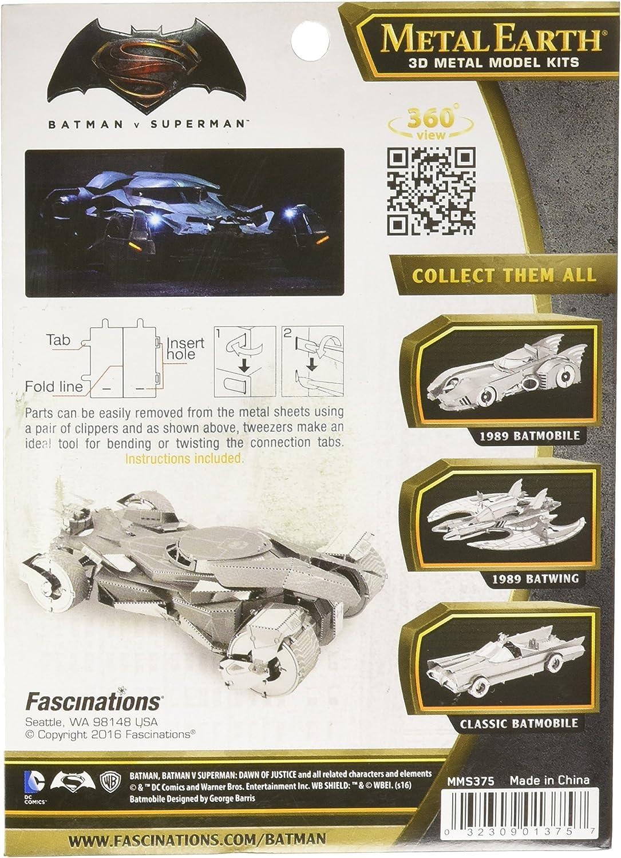 Metal Earth/ /2/Piezas /Maqueta 3D/ /Batman Vs Superman/ /5061375/ /Batmobile/