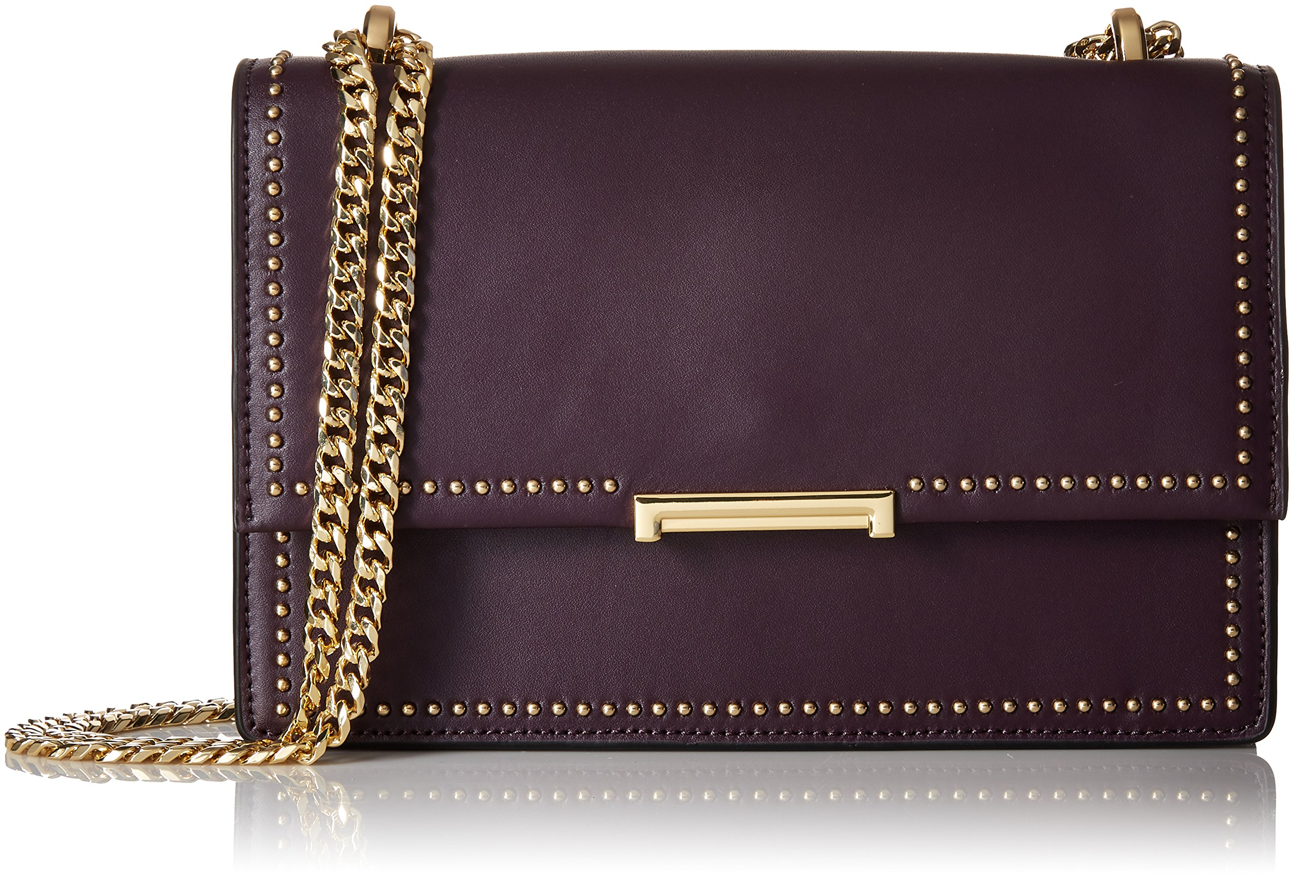 Ivanka Trump Mara Cocktail Bag Plum, Plum Pink Studs by Ivanka Trump