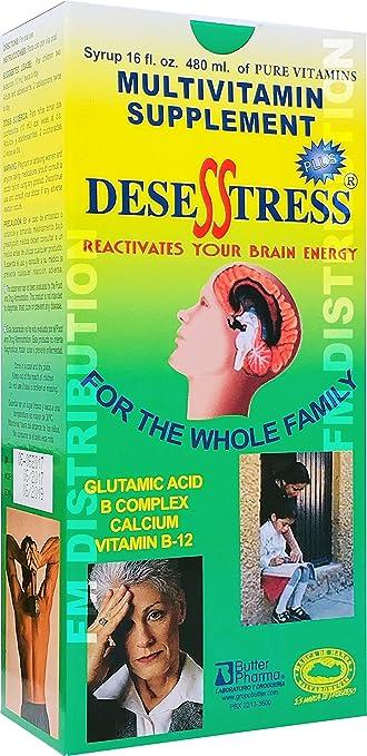 Desesstress Plus Liquid B-Complex - Complejo B para Reactivar Tu Cerebro - 16 Fl