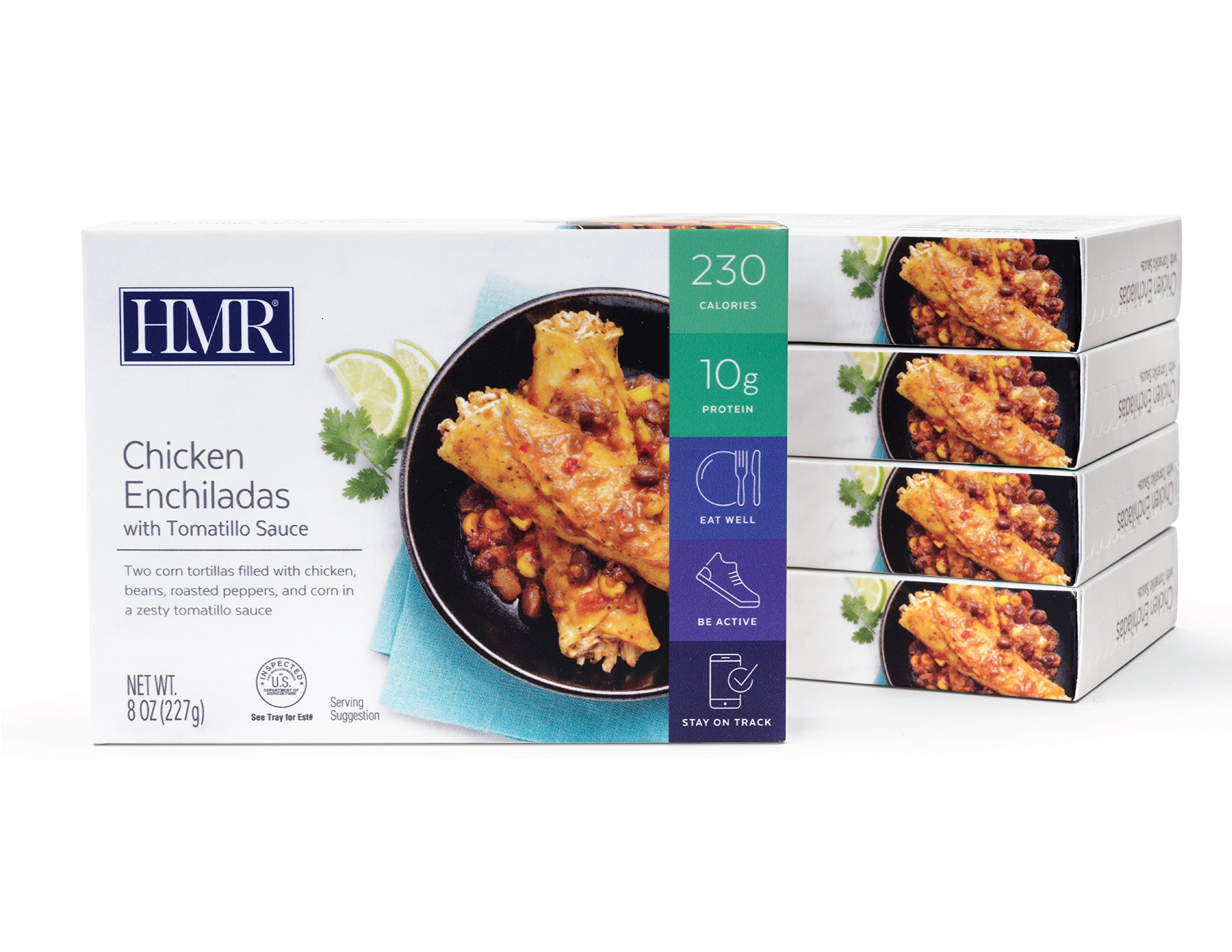 HMR Chicken Enchiladas with Tomatillo Sauce Entree, 8 oz. servings, 5 count by HMR